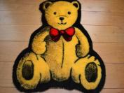 Teddy Bear Non Slip Machine Washable Sheepskin Style Kids Rug. Size 70cm x 90cm