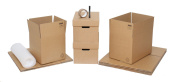 "Moving Boxes - Pack of 10 Cardboard House Packing Cartons Ideal For Students, With Bubblewrap & Free Packing Tape & Marker Pen. 5 x Strong Double Wall Moving House Boxes 18""x12""x12"" For General Use, 3 x Small Removal Boxes 12""x12""x12"" Good For Books, A .."