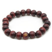8MM Buddha Beads Santal Meditation Prayer Mala Natural Wood Bracelet Men,Women Elasticity Bracelet