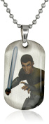 Star Wars Jewellery Boys' Rebel Kanan Dog Tag Chain Pendant Necklace, 41cm