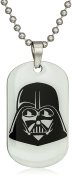 Star Wars Jewellery Unisex Darth Vader Glow in the Dark Dog Tag Kid's Pendant Necklace, 41cm