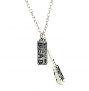 The Walking Dead Charm Necklace - The Walking Dead Jewellery - Negan's Baseball Bat Lucille Necklace In Gift Box