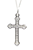 925 sterling silver small boys cross & necklace with free gift pack