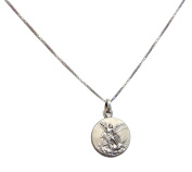 925 Sterling Silver Saint Michael The Archangel Medal with Silver Chain