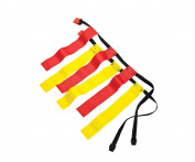 Sportime Medium Flag Football Belts, Set of 12, Red/Yellow