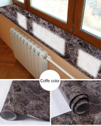 Faux Marble Contact Paper Gloss Film Vinyl Self Adhesive Granite Shelf Liner for Covering Counter Top Kitchen Cabinet
