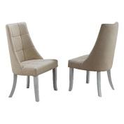 Beige Vinyl Kitchen Dinette Dining Side Chairs