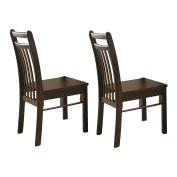 Sampdoria Espresso Wood Kitchen Dinette Side Dining Chairs