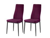 Purple Metal Frame Fabric Kitchen & Dining Side Chairs
