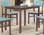Chocolate Wood Rectangular Kitchen Dinette Dining Table