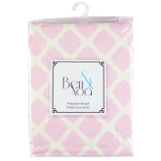 Kushies Fitted Play Pen Sheet Flannel, Pink Lattice