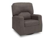 Delta Furniture Marshall Upholstered Glider Swivel Rocker Chair, Graphite