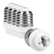 kwmobile 5x lamp socket adapter converter E27 bulb socket ot G9 bulb socket for LED-, Halogen-, Energy saving lamps