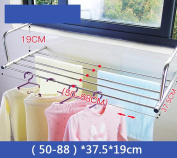 Fence sun clothes racks, stainless steel window balcony drying racks, folding telescopic drying racks ( Size :