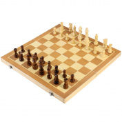 BESTOYARD Folding Wooden Chess Set with Magnetic Pieces, 39*39cm Board