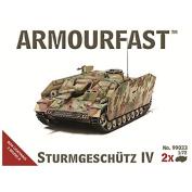 Armourfast 1/72 StuG/Sturmgeschutze IV, 2 kits in a box # 99033