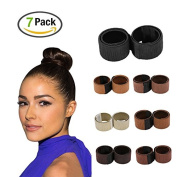 Hair Bun Maker, Women Hair DIY Styling Donut Shaper, Foam French Twist Magic Tool Bun Beauty Crown Shaper