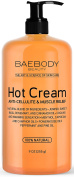 Baebody Anti Cellulite Cream & Pain Relief Cream for Muscle Relaxation. Anti-Cellulite Hot Cream Treatment, Firms Skin, Muscle Rub and Muscle Massager Gel. Huge 270ml