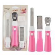 3-in-1 Pink Professional Foot Calluses Remover Shaver Tool Pedicure Care Tool with 10 Blades