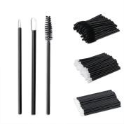 SoulBay 150pcs Lip Brushes Eyeliner Brushes Eyelash Mascara Wand Brushes, Disposable Makeup Applicators Kit