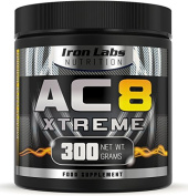 AC8 Xtreme | Tropical Blast | Pre Workout Supplement | Energy & Muscle | 20-40 Servings | 300 grammes
