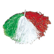 Pom Pom Green White Red Accessory for American Sports Fancy Dress