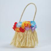 Hawaiian Style Handbag With Flowers Hula Girl Tropical Beach Party Fancy Dress
