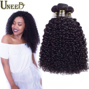 "Uneed Hair 8A Brazilian Curly Virgin Human Hair 3 Bundles Natural Colour 100% Unprocessed Hair Weave Extensions 10""12""14"""