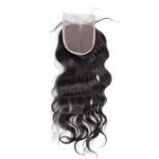 Bolin Hair 3 Part Closure Natural Wave Virgin Brazilian Hair 130% Density Lace Closure Natural Hair Colour Soft and Silky