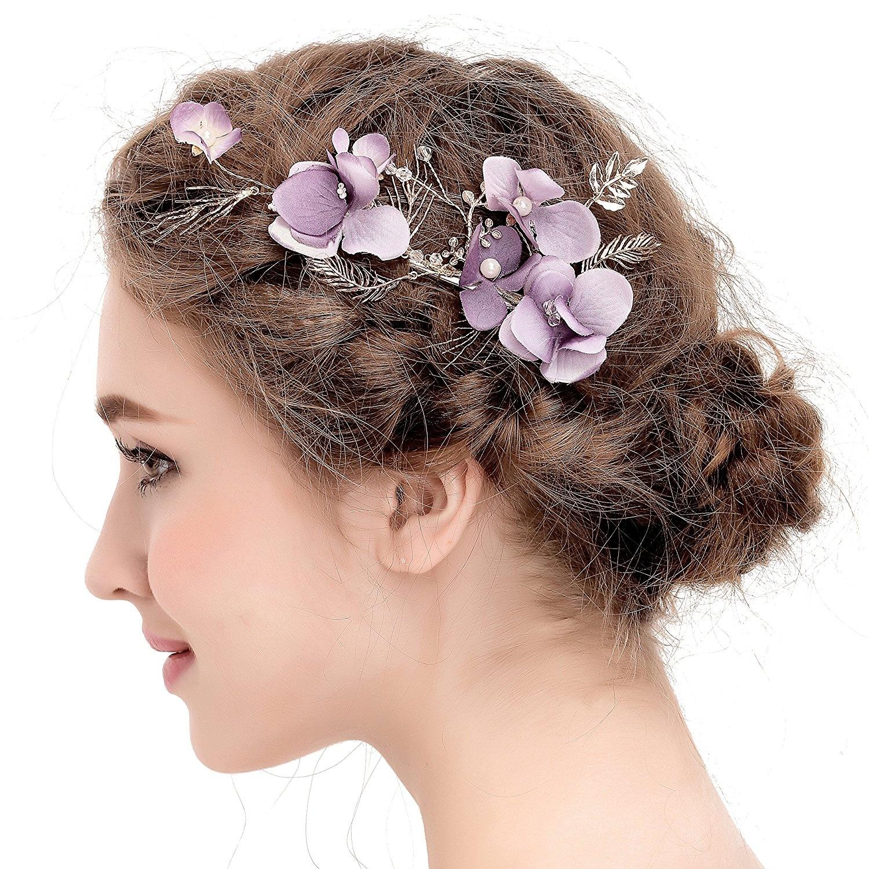 vankoko vintage leaf flower hair piece bridal hair clips wedding