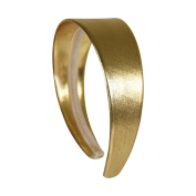 Gold 5.1cm Wide Leather Like Headband Solid Hair band for Women and Girls
