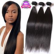 Ruiwen Hair 3 Bundles Brazilian Women Hair Straight Hair Grade 7A Unprocessed Human Hair Weave Natural Black colour