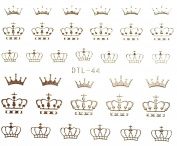 Nail Art 3D Decal Stickers Crown - DTL044 Nail Sticker Tattoo - FashionDancing