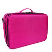 Topwigy Cosmetic Bag Clothing Portable 2 Layers Professional Multifunctional Travel Makeup Storage Case Handing Travel Toiletry Bag Shoulder Makeup Storage Bag