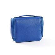 Small Hanging Toiletry Bag - Full Grain Leather - Cobalt