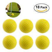 WINOMO 18PCS Practise Golf Balls Soft Dimpled Elastic Indoor Outdoor Training Soft Foam Golf Balls