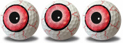 Eyeball Print Novelty Golf Balls Full Wrap Design 3 pack