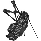 Best Choice Products Golf Bag Stand 6 Way Divider Organiser Carry Straps