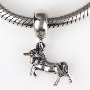 Unicorn Charm - 925 Sterling Silver Charm - Pendant Animal Charm Fits Diy Bracelets