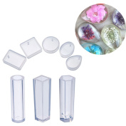 Silicone Casting Mould, 8 Shapes Pendant Making Resin Mould Handmade DIY Craft Tool