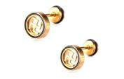 Earrings for Men Rock Mens Stud Earring 6mm