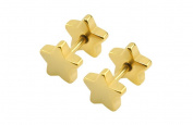 Earrings for Men Gold Star Boy Mens Stud Earring 8mm