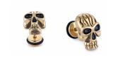 Earrings for Men Gold Punk Skull Mens Stud Earring 13mm
