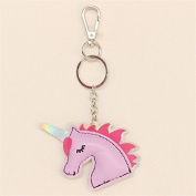Cute Women Girl Unicorn PU Leather Keyring Keychain Bag Pendant Accessories Gift