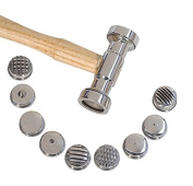 """10-1/2"""" 9-in-1 Interchangeable Texturing Hammer Metal Forming Jewellery Pattern Making Hammer"""