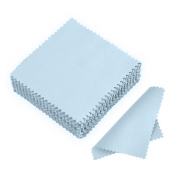 newbud 50pcs Jewellery Cleaning Cloth Polishing Cloth for Sterling Silver Gold Platinum