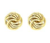 Carissima Gold Yellow Gold Mini Rose Stud Earrings