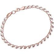 Citerna 9 ct Rose and White Gold Heart on Heart Links Bracelet of Length 19 cm