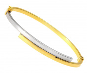 Citerna Women's 9 ct Yellow and White Gold Crossover Bangle