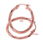 Citerna UER041R 9 ct Rose Gold Twist Hoop Earrings